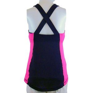 Lululemon navy and pink Cross Over Tank  - Size 8